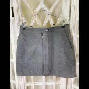 Free People gray mini skirt faux suede size 6
